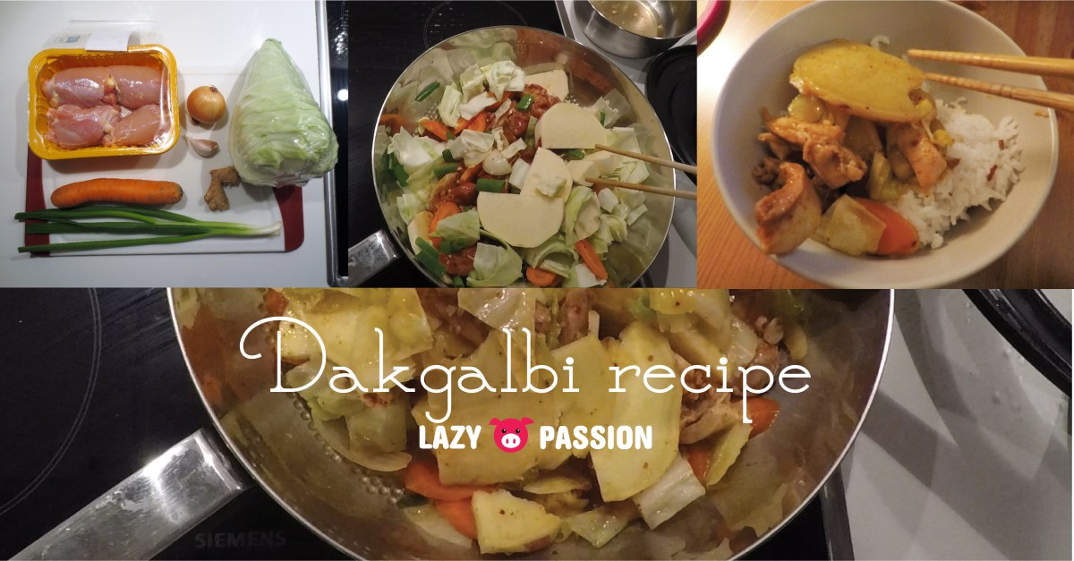Recipe: Dakgalbi ~ not so spicy Korean chicken dish